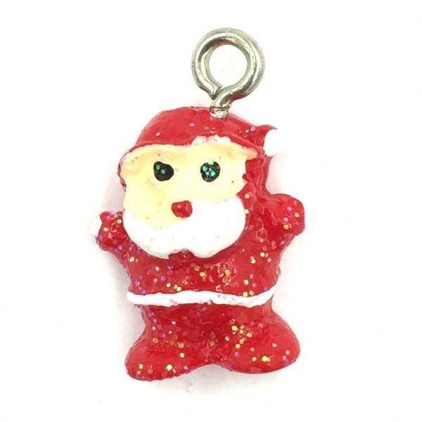 Christmas charm - resin santa - 12mm x 18mm